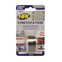 Stretch and fuse tape black 25 mm x 3 meter