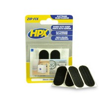 Zip fix klittenband pads 20 x 50 mm zwart