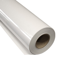 IKONOS Printfolie polymeer glans Hechting: permanent Kleur: wit  Lijm: grijs Breedte: 137 cm  Rol lengte: 50 meter  Dikte: 80 m�
