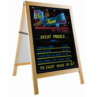 double sided chalkboard