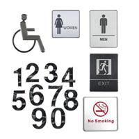 3d toilet signs